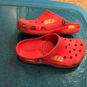 Cars 12 13 red Lightning McQueen crocs no strap